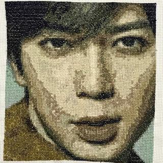 嵐 松本潤 刺繍図案  クロスステッチ刺繍 ハンドメイド(型紙/パターン)