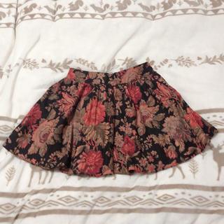 パピヨネ(PAPILLONNER)のパピヨネ 花柄 スカート (ひざ丈スカート)