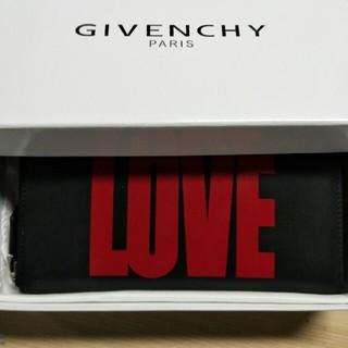 ジバンシィ(GIVENCHY)の新品 ジバンシィ GIVENCHY 長財布 黒 赤 LOVE ロゴ (長財布)