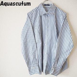 アクアスキュータム(AQUA SCUTUM)の【人気】Aquascutum/アクアスキュータム ストライプシャツ ブルー(シャツ/ブラウス(長袖/七分))