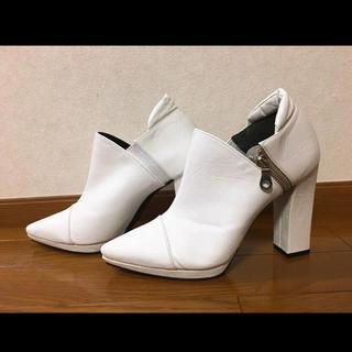 エスペランサ(ESPERANZA)のエスペランサ ESPERANZA ショートブーツ ホワイト(ブーツ)