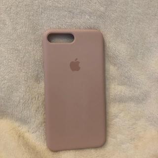 アップル(Apple)のiPhone8Plus 純正シリコンケース サンドピンク(iPhoneケース)
