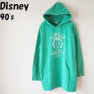 ディズニー(Disney)の【90's】Disney/ディズニー ミッキープリントパーカー サイズM(パーカー)