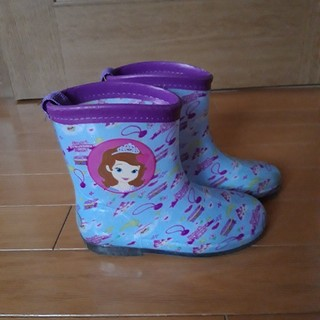 子供用 レインブーツ プリンセスソフィア 長靴 水色系 18cm(長靴/レインシューズ)