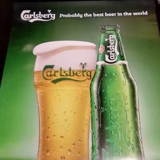 カールスバーグ大型ポスター1枚 グラス(アルコールグッズ)