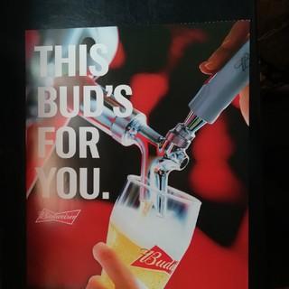 バドワイザー大型ポスター1枚 デッドストックキリンビール(アルコールグッズ)