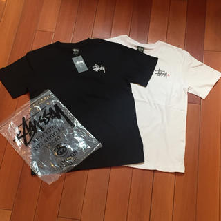 ステューシー(STUSSY)のSTUSSYサイズL黒白2点セット半袖Tシャツ(Tシャツ(半袖/袖なし))
