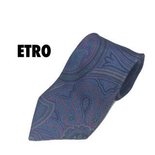 エトロ(ETRO)のETRO エトロ ネクタイ 総柄 ブルー(ネクタイ)