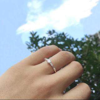 重ね付けリング 大きいサイズ シルバーカラー ジルコニア 極細リング(リング(指輪))