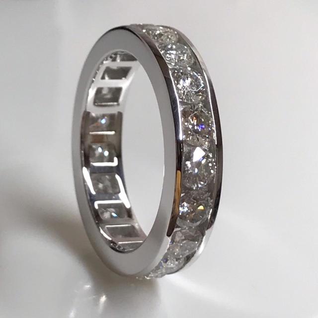 pt950*豪華モアサナイトフルエタニティリングオーダーメイド レディースのアクセサリー(リング(指輪))の商品写真