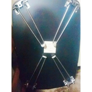 ブラック ローテーブル(折たたみテーブル)