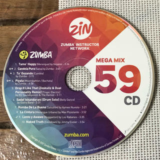 ズンバ(Zumba)のZUMBA CD / MEGA MIX VOLUME 59(スポーツ/フィットネス)