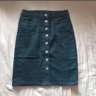 ロキエ(Lochie)のロキエ ヴィンテージ デニムスカート(ひざ丈スカート)