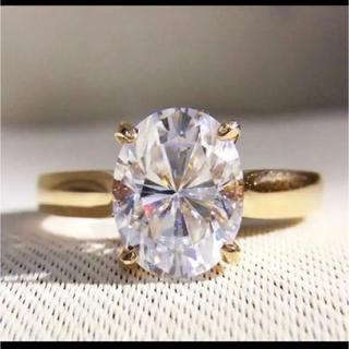 K18*オーバルカットモアサナイト18金一粒リング (リング(指輪))
