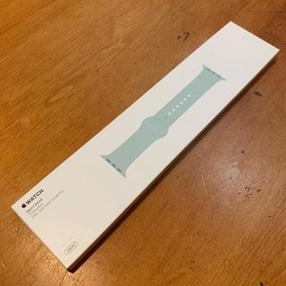 アップル(Apple)のApple Watch 38 40mm シリコンバンド ターコイズ(ラバーベルト)
