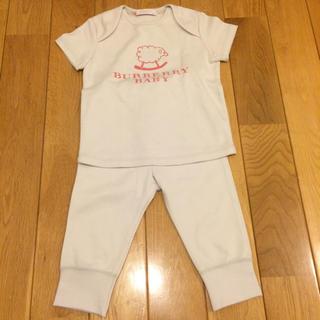 バーバリー(BURBERRY)のバーバリー  新品 80 セットアップ Tシャツ パンツセット(Tシャツ)