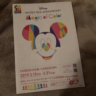 ディズニー(Disney)のDisney【Magic of Color】無料パンフレット!♪◎(その他)
