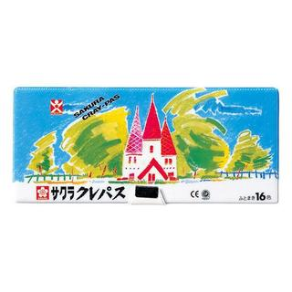 新品 サクラクレパス ソフトケース ふとまき16色(クレヨン/パステル )