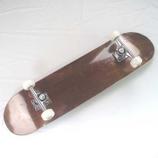 スケートボード スケボー コンプリート 新品 無地 木目 BN(スケートボード)