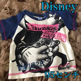 ディズニー(Disney)のDisney ミッキー ギター Tシャツ 95センチ(Tシャツ/カットソー)