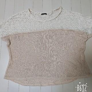 4L ニット素材 Tシャツ(Tシャツ(半袖/袖なし))