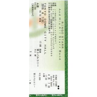 リンゴスター  4/7   チケット  東京ドームシティホール(海外アーティスト)