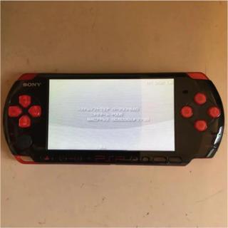 プレイステーションポータブル(PlayStation Portable)のPSP 3000 本体 ブラック レッド PSPJ-30017(携帯用ゲーム本体)
