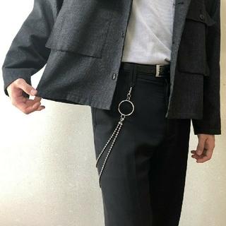 2連ボールウォレットチェーン【トレンド】真鍮素材日本製 高品質(ウォレットチェーン)
