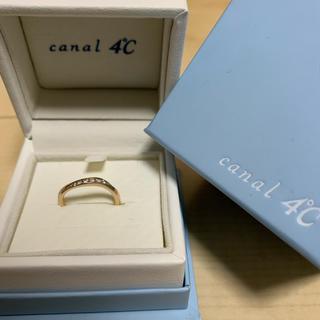 カナルヨンドシー(canal4℃)のcanal 4℃ シルバーペアリング 9号 箱付き(リング(指輪))
