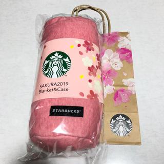 スターバックスコーヒー(Starbucks Coffee)のスターバックス 桜 2019 ブランケット&ケース(おくるみ/ブランケット)