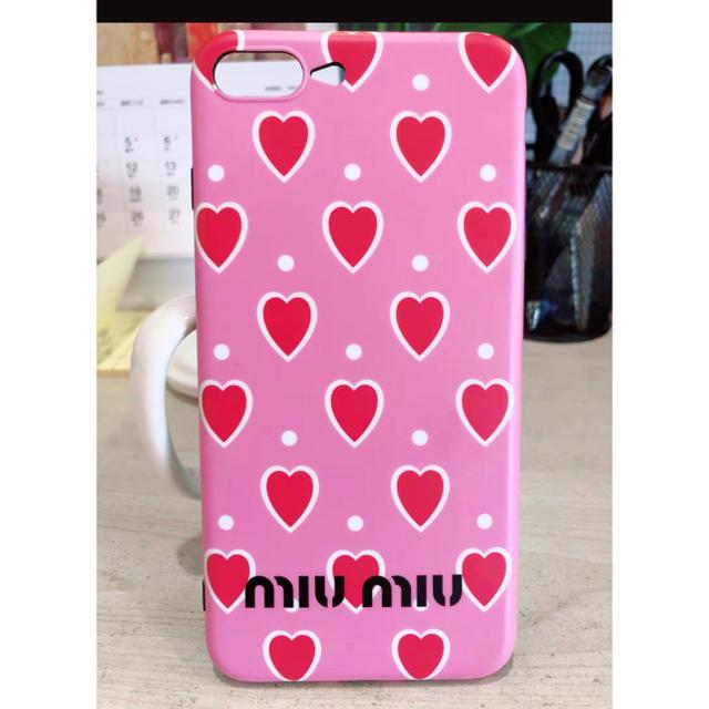 ブランド アイフォーン7 ケース 、 miumiu - iPhoneケース♡miumiu風の通販 by めいち's shop|ミュウミュウならラクマ