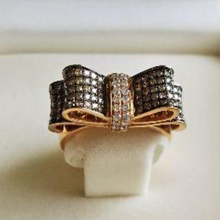 【未使用】K18ピンクゴールド ブラウンダイヤモンド リング(リング(指輪))