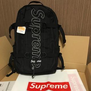 シュプリーム(Supreme)のSUPREME 18FW Backpack 黒 新品未使用(バッグパック/リュック)