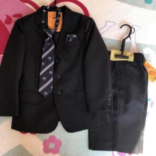 シマムラ(しまむら)の早い者勝ち フォーマルスーツ 4点セット 120 男の子 スーツ 入学式 黒(ドレス/フォーマル)