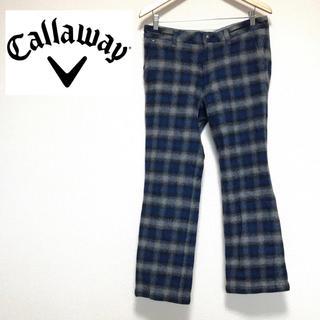 キャロウェイ(Callaway)の☆格安☆キャロウェイCallaway パンツ  チェック ブルー(ウエア)