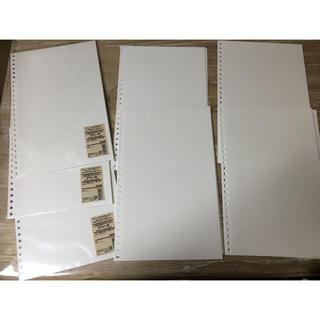 ムジルシリョウヒン(MUJI (無印良品))の無印良品 リフィール A4 35枚 台紙に書き込めるアルバム用(ファイル/バインダー)