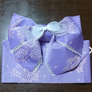 ♥️浴衣用結び帯【子供用】120~150 紫 キッズ レディース(甚平/浴衣)
