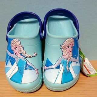 クロックス(crocs)の【新品・未使用】クロックス☆アナと雪の女王☆ サンダル☆サイズ19㎝(サンダル)