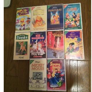 ディズニー(Disney)のディズニーVHS10本セット(その他)