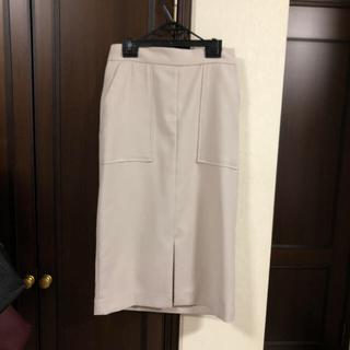 エヌナチュラルビューティーベーシック(N.Natural beauty basic)のN. センタースリットタイトスカート(ひざ丈スカート)