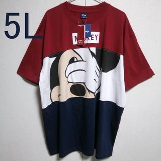 ディズニー(Disney)の5L ミッキーTシャツ 新品 mickey  ディズニー (Tシャツ/カットソー(半袖/袖なし))