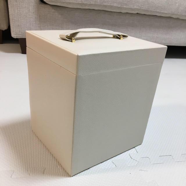 メイクボックス コスメボックス 収納 ホワイト ミラー付き インテリア/住まい/日用品の収納家具(ドレッサー/鏡台)の商品写真