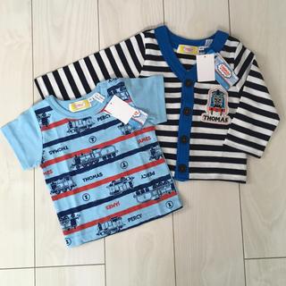 シマムラ(しまむら)の《未使用・タグ付き》トーマスのTシャツとカーディガン 80cm(Tシャツ)
