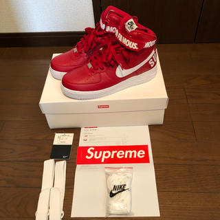 シュプリーム(Supreme)のNIKE®︎/Supreme 14FW Air Force 1 Hi Red 9(スニーカー)