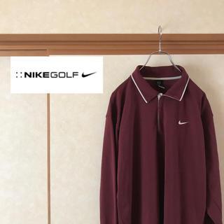 ナイキ(NIKE)の 【極美品】NIKE GOLF ナイキゴルフ ワンポイントロゴ 長袖ポロシャツ (ポロシャツ)