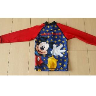 ディズニー(Disney)のDISNEY  ミッキーマウス 男女児兼用100  長袖ラッシュガード水着(水着)