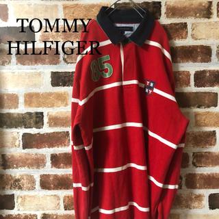 トミーヒルフィガー(TOMMY HILFIGER)の[ TOMMY HILFIGER ]トミー ラガーシャツ ボーダー 赤 白(ポロシャツ)