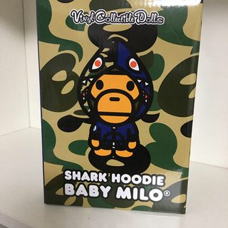 A BATHING APE - VCD BABY MILO(R) SHARK HOODIE BLUE