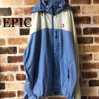 ナイキ(NIKE)の[ EPIC ]エピック ポリエステル ジャケット 白 ライトブルー 好配色 (ナイロンジャケット)
