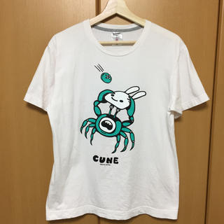 キューン(CUNE)のCUNE Tシャツ ホワイト(Tシャツ/カットソー(半袖/袖なし))